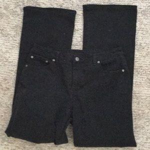 St John's Bay Black Jeans boot cut Sz 14 R